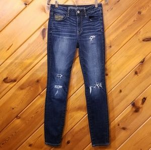 Hi-Rise Jegging Super Stretch AEO Dark Wash EUC